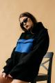 Худи Rawwwr clothing 040-начес черный/синий