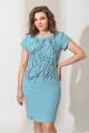 Платье 544 бирюза