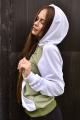 Худи Rawwwr clothing 072-начес белый-хаки-оливковый