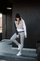 Худи Rawwwr clothing 072-начес графит-белый-пудра
