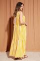 Платье S_ette S5016 полоска_желтый