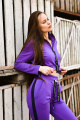 Брюки Rawwwr clothing ВТ004-начес фиолетовый