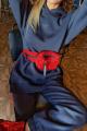 Брюки Rawwwr clothing 238-начес графит+красный