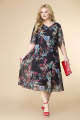 Платье Romanovich Style 1-2154 черный/мультиколор