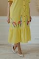 Платье Ольга Стиль С-678 желтый