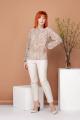 Блуза Соджи 410 коричневый