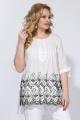Блуза Liliana 955 белый+черный