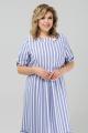 Платье Pretty 1981 голубой-белый