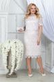 Платье Ninele 5843 белый_пудра