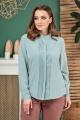 Блуза Anastasiya Mak 803 серо-мятный