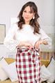 Блуза, Юбка Мода Юрс 2476 бежевый-бордо