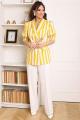 Женский костюм Мода Юрс 2687 желтый_молочный