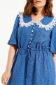 Платье ELLETTO 1842 васильковый