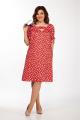 Платье Lady Secret 3653.1 алый+горошек