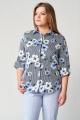 Брюки, Рубашка Almirastyle 154 голубой/полоска