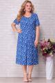 Жакет, Платье Aira Style 827 синий_фон_цветы