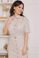 Блуза, Юбка Мода Юрс 2689 бежево-серый
