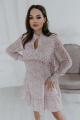 Платье Temper 421 розовый_мелкие_цветы