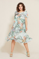 Платье Mubliz 544 мята_цветы