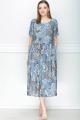 Платье LeNata 11192 на-голубом-рисунок