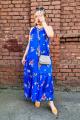 Сарафан Shymoda 126-20 светло-синий/цветы