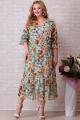 Платье Aira Style 832 зеленые_цветы