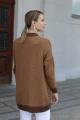 Кардиган Romgil 379ТЗ светло-коричневый,темно-коричневый