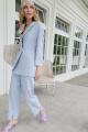 Женский костюм Lokka 788 светло-голубой