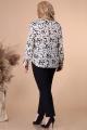 Блуза Линия Л Б-1881 молоко-черный