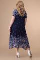 Платье Romanovich Style 1-1332 синий/листики