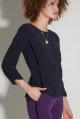 Блуза Moveri by Larisa Balunova 2776 темно-синий