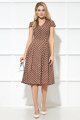 Платье AYZE 1966 коричневый/белый