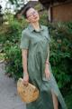 Платье YFS 0809-21 хаки