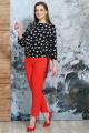 Брюки, Блуза Белтрикотаж 4347 красный-черный