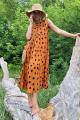 Платье Lokka 771 оранжевый_горох