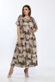 Платье Lady Style Classic 1976/5 коричневый_лилии