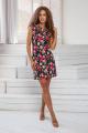 Платье DoMira 01-598 черный-в-цветы
