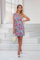 Платье DoMira 01-598 голубой-в-цветы
