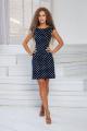 Платье DoMira 01-598 темно-синий-горох