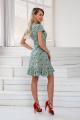 Платье DoMira 01-446 мята-цветы