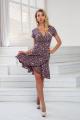Платье DoMira 01-446 розовый-цветы