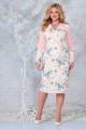Платье Ninele 2300 пудра_цветы