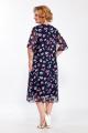 Платье LaKona 1221 синий_розовые_цветы