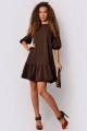 Платье PATRICIA by La Cafe F14435 коричневый