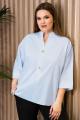 Блуза Prio 485143 светло-голубой