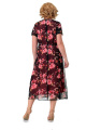 Жакет, Платье Мишель стиль 982 черно-коралловый