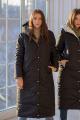 Пальто Sisteroom П-044 черно-хаки