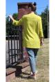 Кардиган Arisha 8080 оливково-желтый