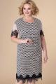 Платье Romanovich Style 1-2184 пудра\черный