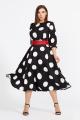Платье Mubliz 583 черно-белый